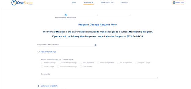 •How do I make a change to my Program, like adding a dependent, going up to the next Program Tier, changing my Effective Date, or changing my contact Information?
